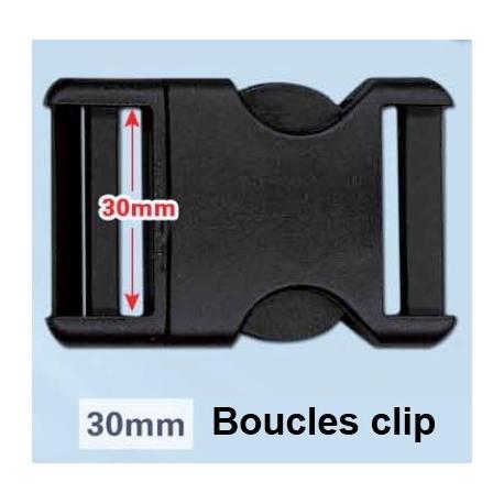 Boucles clip 30mm et 16mm