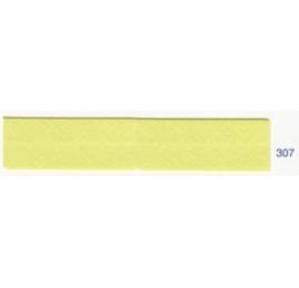 Biais unis jaune anis 307