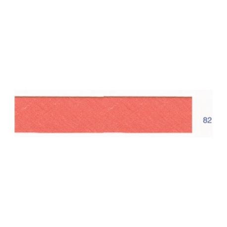 Biais polyester unis corail clair 82