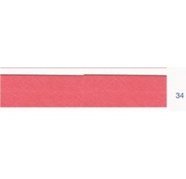 Biais polyester unis rose 34