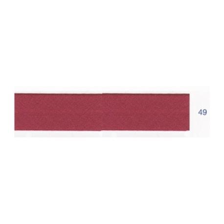 Biais polyester unis rose rouge 49