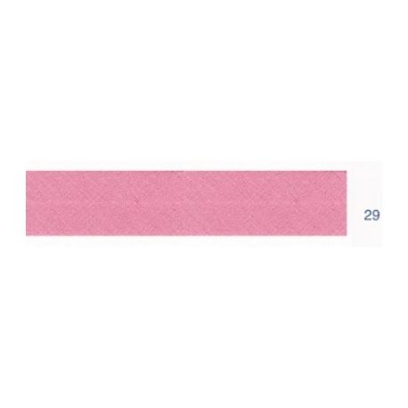 Biais polyester unis rose saumon 29