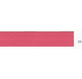 Biais polyester unis rose framboise 33
