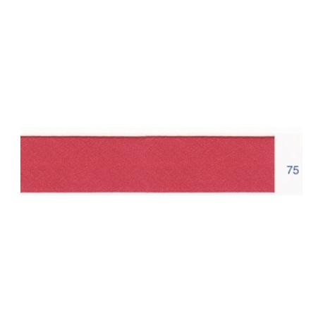 Biais polyester unis rose terracotta 75