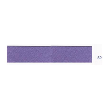 Biais polyester unis violet bleu 52