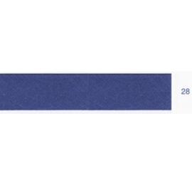 Biais unis bleu moyen 28