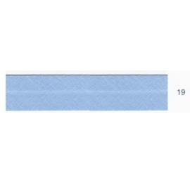 Biais unis bleu 19