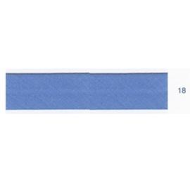 Biais unis bleu turquin 18