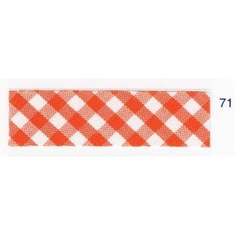 Biais vichy orange71
