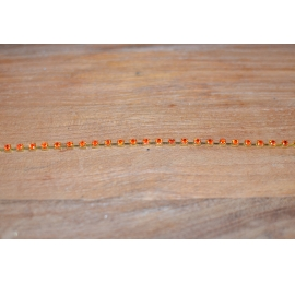 Chaine strass cristal orange 4mm