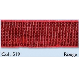 Galon paillettes rouge