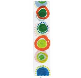 Taffetas ronds de couleur sur les 2 faces (25)