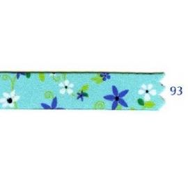 Galon fleurs 10 mm turquoise 93