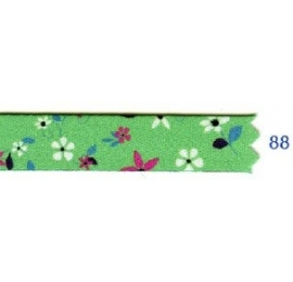 Galon fleurs 10 mm vert 88