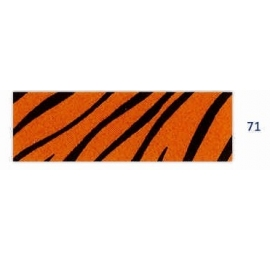 Biais imprimé tigré fauve