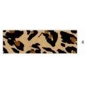 Biais imprimé léopard fauve