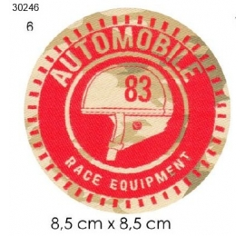 Ecusson automobile 6 automobile rond