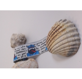 ruban jacquard théme marin bord de mer marin à la pipe