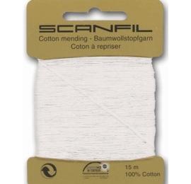 Coton à repriser blanc