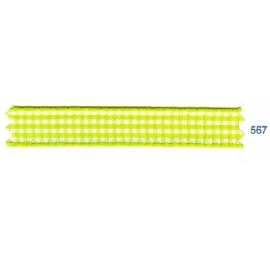 Ruban vichy 10 mm jaune 567