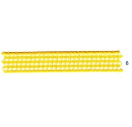 Ruban vichy 10 mm jaune 6
