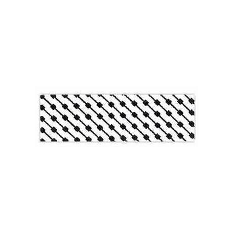 biais imprimé géométrique noir et blanc