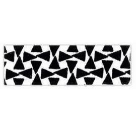 biais imprimé géométrique noir et blanc triangle