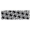 biais imprimé géométrique noir et blanc carré