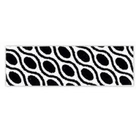 biais imprimé géométrique noir et blanc motif 5