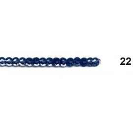 Ruban paillettes rondes marine 22