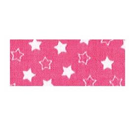 Biais imprimé 7703 étoile Fuschia