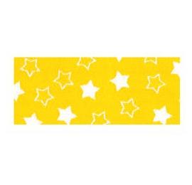 Biais imprimé 7703 étoile Jaune
