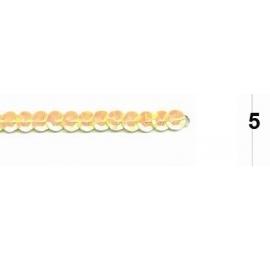 Ruban paillettes rondes jaune 5