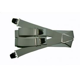Bretelles pinces larges gris clair