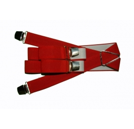 Bretelles pinces larges rouge