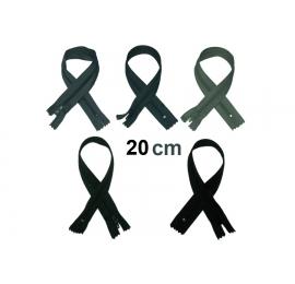 Fermeture 20cm : les gris et noir pour jupes et pantalons