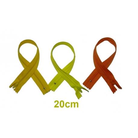 Fermeture 20cm : les jaunes et oranges pour jupes et pantalons