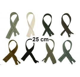 Fermeture 25cm : les beiges et marrons pour jupes et pantalons