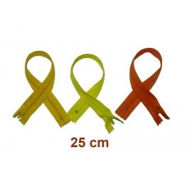 Fermeture 25cm : les jaunes et oranges pour jupes et pantalons