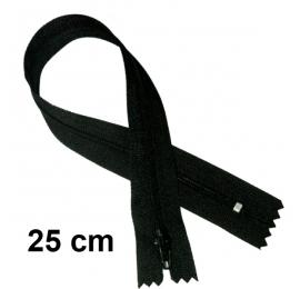 Fermeture 25cm : Noir pour jupes et pantalons