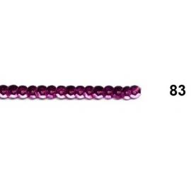 Ruban paillettes rondes lie de vin 83