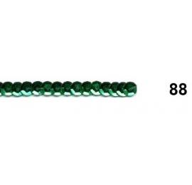 Ruban paillettes rondes vert 88