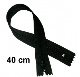 Fermeture robe 40cm : Noir