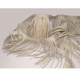 Longues franges western de 15cm beige
