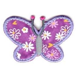 Ecusson papillon violet
