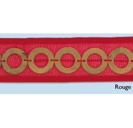 Galon anneaux rouge