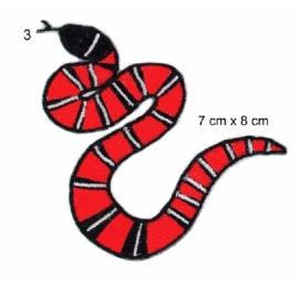 Ecusson serpent rouge et noir