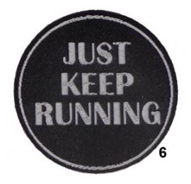 Ecusson Running 6