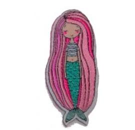 écussons dessin sirène long cheveux