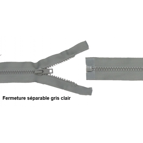 Séparable injecté gris clair